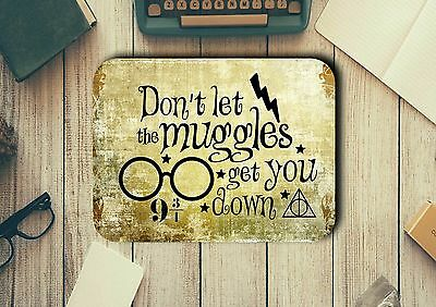 Harry Potter Quote Muggles Mouse Pad Easy Glide Non Slip Heat Resistant Neoprene