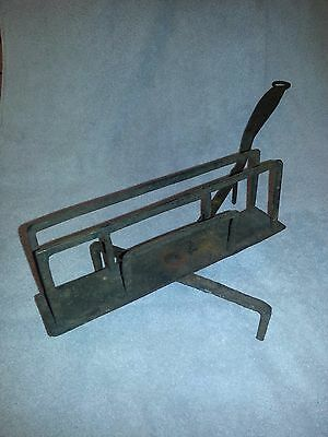 Antique Vintage Rare Toaster - Cast Iron - Kick Toaster - Spins - Primitive