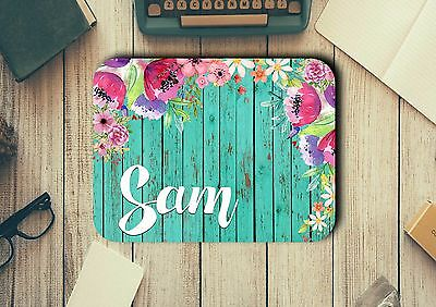 Personalised Name Mouse Pad Easy Glide Non Slip Heat Resistant Neoprene