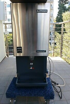 Nice Used Scotsman Mdt3F12A-1H Touchfree Flake Ice Machine/dispenser