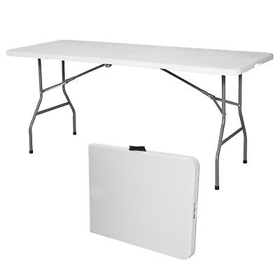 6' Portable Centerfold Folding Table Indoor Outdoor Camp Party Picnic Plastic
