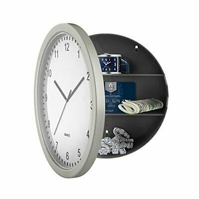 Home RV Wall Clock Diversion Safe Hide Valuables Stash Jewelry Cash Key Security