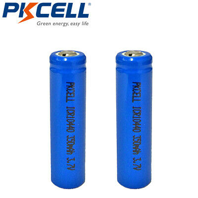 4pcs ICR 10440 Li-ion Rechargeable Batteries 350mAh 3.7V AAA Battery Button Top