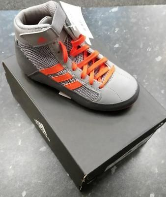 Adidas HVC Kids Boxing Boots- Size 12.5- Grey/Red