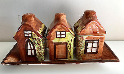 english cottage ware kensington price bros cottage style condiment set on tray