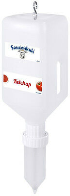Saucenkuh®, klein Sauce Dispenser Set Dispensersystem  2,7 Liter Senf Ketchup