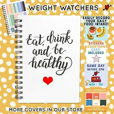Food Diary Diet Journal Weight Watchers Compatible Weight Loss Tracker BOOK C17