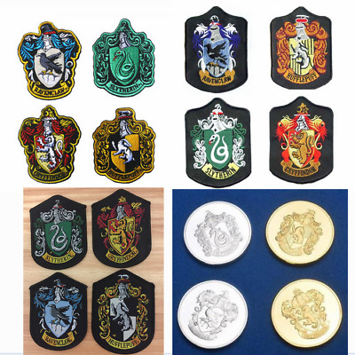 Harry Potter Crest Badge Embroidered Patch Gryffindor Slytherin Ravenclaw House