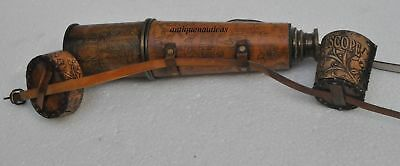 Ship Captain 32'' Antique Cap Belt brass Telescope With Spy Glass CF649