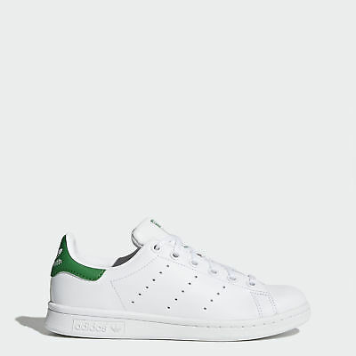 New adidas Originals Kids' Stan Smith M20605 Leather White/Green Sneaker