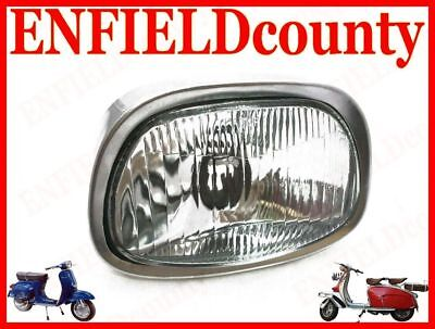 New Vespa Headlamp Headlight Assembly With Bulb Holder Super Sprint Ss180  @de