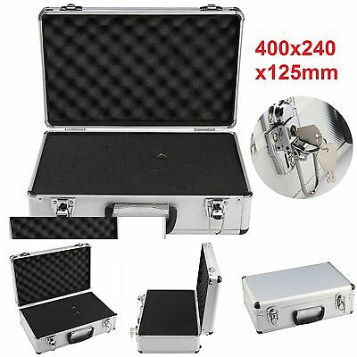Large Hard Aluminium Flight Case Foam Camera Photography Carry Storage Tool BOX