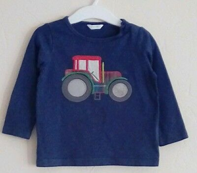 Boys boden tractor long sleeved top. 12-18 months