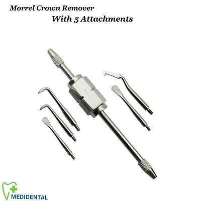 Crown Removing instruments Morrel Set with 5 Attachments orthodontal Dental CE