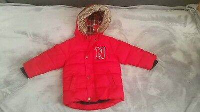 Boys NEXT coat jacket 18-24 months in excellent condition