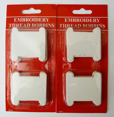 New Pack Of 100 Embroidery And Cross Stitch Thread Bobbins Cardboard