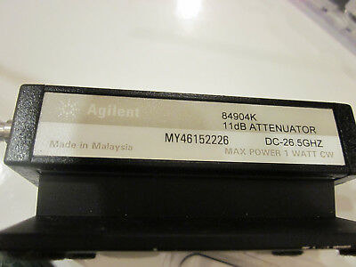 Agilent 84904K Programmable Step Attenuator, DC - 26.5 GHz, 1dB with Cable