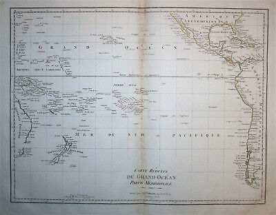 South Pacific Ocean New Zealand West coast of North & South America Poirson 1804