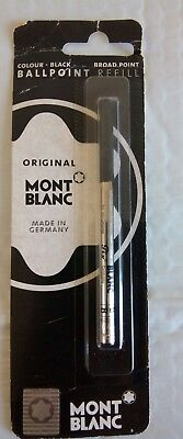 Mont Blanc Ballpoint Black Refill Broad Point Original Made in Germany