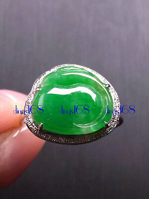 Certified 100% Natural A Jadeite Cycnoches warscewiczii Lady Ring Jewelry JD1793