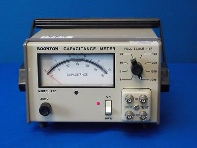 Boonton 72C Analog Capacitance Meter, 100 kHz, 1-3000 pF Full Scale, TESTED