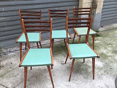 Paolo Buffa  1950' Plywood Curved  Set Of 5
