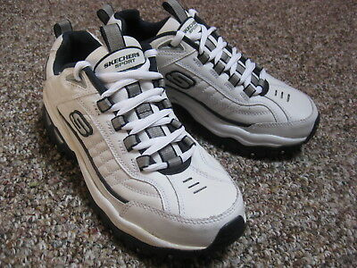 82d3515d5a71 Skechers Sport Energy Afterburn White Navy Blue Mens Athletic Shoes SN 50081