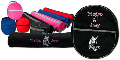Personalized Rhinegold Luggage Bridle Bag and Hat Bag Set