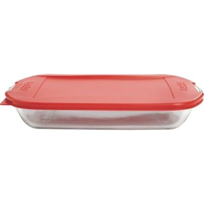 NEW Anchor Hocking 91087 4 Pc. Essentials Tote Set w/Embrace Lid Bakeware Bake