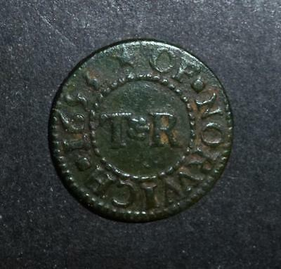 Superb top grade 17th century traders token - Norwich Thomas Rayner