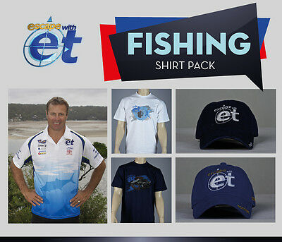 Escape with ET Short Sleeve Fishing Shirt + 2 FREE CAPS & 2 FREE T-SHIRTS