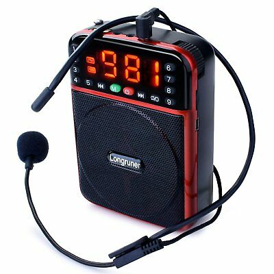 Rechargeable Voice Amplifier Portable Waistband Microphone  Loud Speaker or Tea