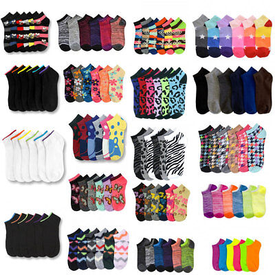 12~600  Women's Girl Spandex Ankle Low Cut Socks No Show Wholesale Lot 6-8 9-11