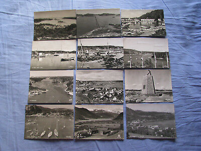 25 unused black & white picture postcards  NORWAY  job lot  competition entry