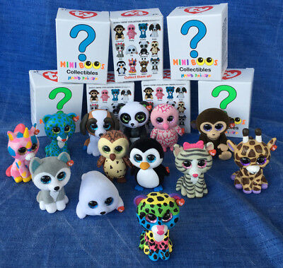 w-f-l Ty Mini Boos Collectible Figures 5 cm Beanie Boos Selection Hand Painted