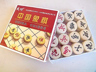 Chinese Wooden Chess Set W Box For Adult Children Games Toys Birthday Party A7