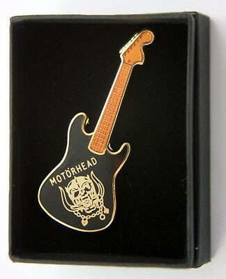 MOTORHEAD 'Warpig' Guitar Shaped Enamel Lapel Badge