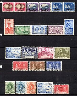 Swaziland KG VI very nice mixed collection ,stamps as per scan(3155)
