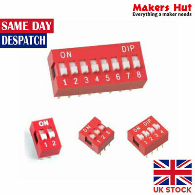 1/2/3/4/5/6/8/10 Way ON/OFF DIP DIL Switch PCB Toggle Snap Switches