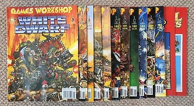 11 x VINTAGE ISSUES WHITE DWARF 175-185 '94-95 GAMES WORKSHOP MAGAZINES + EXTRAS