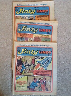JINTY AND LINDY COMICS 10, 17 and 31JULY 1976 VERY GOOD CONDITION