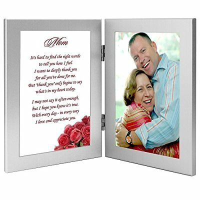 Premium Birthday Gift for Mom From Daughter or Son - Mom Poem in Double Frame