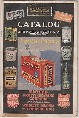 Original 1927 WRIGLEY'S BRANDS CHEWING Gum CATALOG REDEMTION FOR UNITED COUPONS