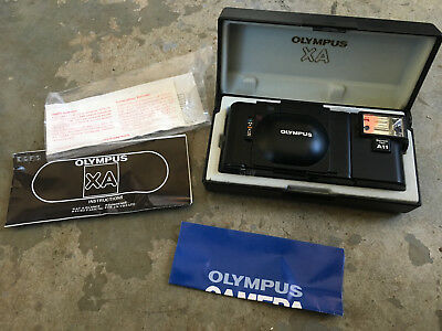 Olympus Xa Original 35Mm Point Shoot, Box Flash Papers, Works Perfectly