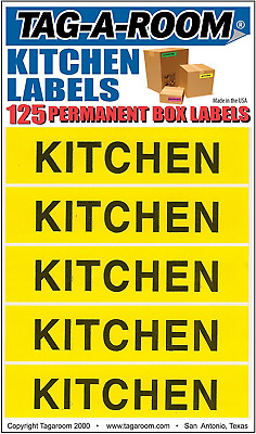 Tag-A-Room Color Coded Home Moving Box Labels Stickers(Kitchen)