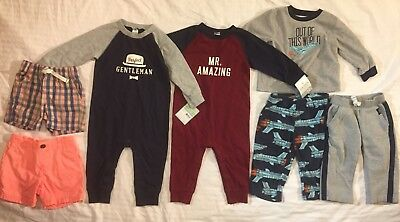 Carter's Baby Boys 18 Months Clothes Lot - Rompers, Pants, Shorts, Pajamas