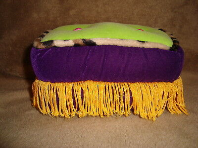 "Groovy Girls Oohlala Ottoman/ foot stool 3""h Plush & Beans 2000 Manhattan Toy"