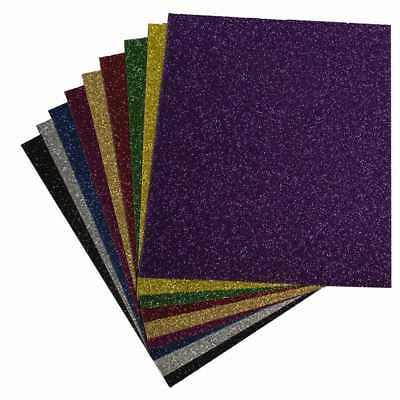 "10""x12"" 9-Color Kit Pearl GLITTER Heat Transfer Vinyl HTV, Craft Cutters Cricut"