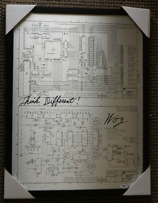 "Steve Woz Wozniak SIGNED 18""x24"" Apple I Computer Schematic PSA/DNA AUTOGRAPHED"
