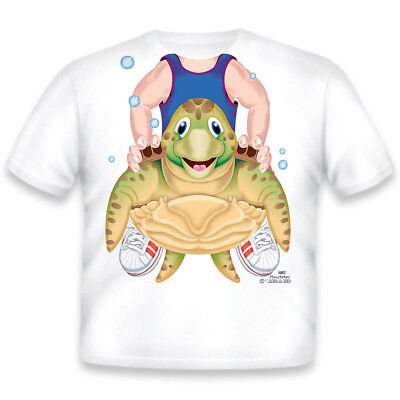 NEW Add A Kid Boy's TURTLE RIDER Toddler T-Shirt Size 2T 100% COTTON Made In USA